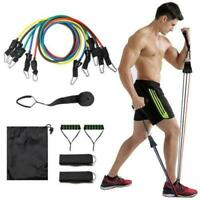 11Pcs/Set Resistance Bands Yoga Fitness Rubber Tubes Expander Band Stretch Train