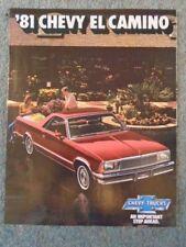 Chevrolet Chevy El Camino USA Sales Brochure / Leaflet 1981 7194F