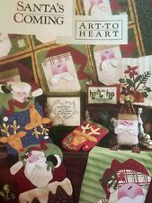 Art to Heart SANTA'S COMING Embroidery Wool Applique Booklet 16 Projects