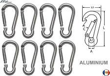 Mousqueton Aluminium Gris Clair 60mm ( Lot de 8 )
