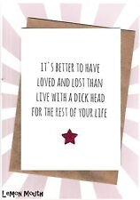 Happy Divorce Card / Greeting Card / Separated / Funny / Humour - Loved Lost DH