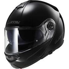 LS2 FF325 Strobe Flip Front Motorcycle Helmet Black Bike Crash Lids Scooter Up