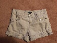 WOMENS SIZE 4 COTTON / RAYON LIGHTWEIGHT SHORTS BY ARMANI EXCHANGE EUC