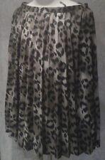 Eleganter Damen Plisseerock ,Wadenlang ,gefüttert ,Gr. 50  Leoparden-Muster
