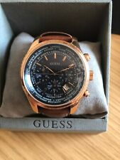 Mens Guess Watch Rose Gold Copper Colour Genuine Requires Battery