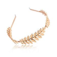Head Wedding Olive Grecian Branch Gold Leaves Women Crown Headband Band Leaf