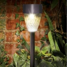 4PC Solar Power Outdoor LED Stainless Steel Stake Spot Light | Garden Party Path