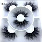 3/4 Pairs 3D Imitation Mink False Eyelashes Long Thick Cross Handmade Eye Lashes