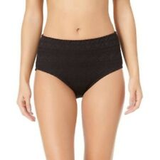 Catalina Women's Solid Crochet High Waisted Bottom Rich Black Size 16W 1X