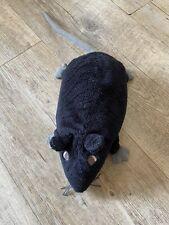 Doudou Peluche Rat Souris Noir Queue Grise Ikea