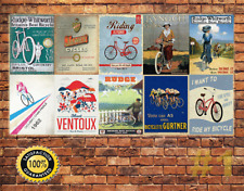 Job Lot 10 x METAL TIN SIGN WALL PLAQUE VINTAGE CYCLING COLLECTION #1
