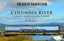 "Train Junkies N Scale ""Columbia River"" Backdrop  12X80"" C-10 Mint-Brand New"