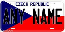 Czech Republic Flag Any Name Novelty Car License Plate