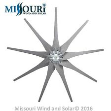9 Raptor Generation 4 Gray Wind Turbine Generator Blades & Hub Made in the USA