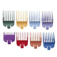 8 Sizes Colored Electric Hair Clipper Limit Comb Guide Attachment Set Salon Tool