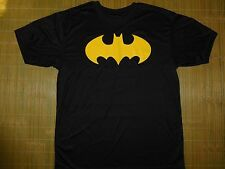 Batman Classic Logo DRI-FIT Polyester Men's Sizing T-Shirt Black Large Justice