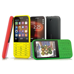 """Unlocked Original Nokia 225 Dual Sim 2.8"""" 2MP GSM 900/1800 Bluetooth CellPhone"""