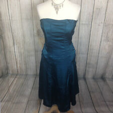 NEW - Beautiful Teal Strapless VILA Dress Size M RRP £29.99
