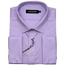 "Paradigm Pure Cotton Non-Iron DC Formal Shirt/Lilac - 19"""