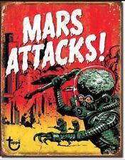 Mars Attack Classic Alien Movie B List Weathered Retro Decor Metal Tin Sign New
