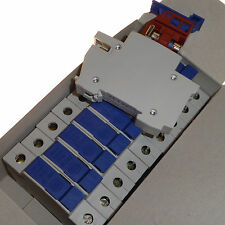 10 x Consumer unit 15 amp fuse carrier with 15A fuses DIN rail Wylex NSC15 new