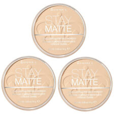 NEW Rimmel Stay Matte Pressed Powder Transparent 0.49 Ounces (3 Pack)