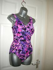 12 SWIMSUIT MIRACLESUIT BRIGHT PINK TUMMY AND BUST CONTROL SOFT CUPS NEW
