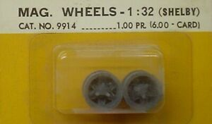 COX 1/32 9914 MAG WHEELS (SHELBY) (SIX PAIRS) NEW OLD STOCK