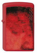 ZIPPO Feuerzeug GET FIRED UP Red matte Feuer Zippo Logo NEU OVP Sammlerstück!!