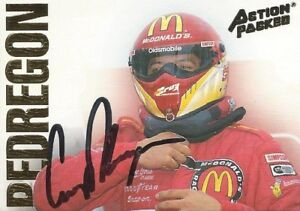 CRUZ PEDREGON AUTOGRAPHED 1994 ACTION PACKED RACING NHRA PHOTO TRADING CARD #23