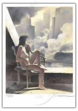 Ex-libris François Schuiten La douce La 12 numéroté 299 ex signé 21x29,7 cm