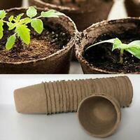"""Biodegradable Paper Peat Pots (20 PCS) Starters Garden Planters - 3.15X3.15"""""""