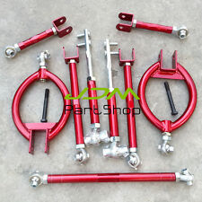 for Nissan Silvia S13 180SX /200SX Adjustable Suspension Camber Arm Kit Red 9PCS