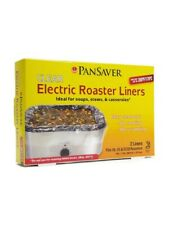 PanSaver Clear Plastic Electric Crockpot Slow Roaster Liners 1 Box (2 Liners)