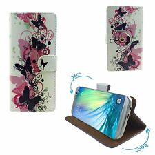Mobile Phone Cover Wallet Case For INEW i8000 - Butterfly Pink L