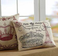 "Elysee Accent Pillow 14X18"" W/ Filler Stencil Paris Eiffel Tower ~ Carousel"