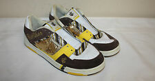 Womens Ladies Rocawear White Brown Yellow Gold Casual Fashion Sneakers Sz 8.5