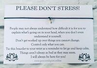 Don't Stress Wish Bracelet, Anxiety Gift, Exam, Stress, Depression, Charm, #WB