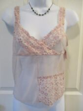 ASHLEY TAYLOR Womens Pink Sheer CAMISOLE L Large LINGERIE Sexy & Classy NWT