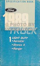 1989 Ford Service Spezifikationen Manuell Ranger Bronco II Aerostar Buch Oem