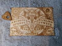 Original Wooden Ouija Spirit Hunt Board Game And Planchette