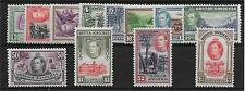 BRITISH HONDURAS SG150/61 1938 DEFINITIVE SET MTD MINT
