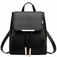 Backpack Women PU Leather Female Bags Backpacks Teenager School Rucksack Bags