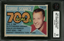 1968-69 1968 OPC O-PEE-CHEE HOCKEY PUCK STICKERS CARD~#22~GORDIE HOWE~KSA 9 MINT