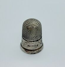 More details for sterling silver thimble charles horner hallmarked 1909