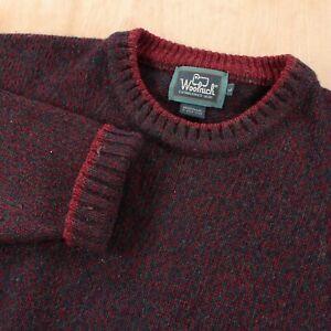 vtg Woolrich handframed wool blend sweater LARGE claret crewneck 80s 90s