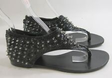 Summer NEW black spike WOMEN SHOES ROMAN GLADIATOR FLAT SANDALS  SIZE   8