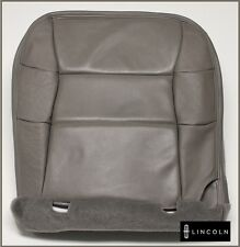 00 01 02 Lincoln Navigator 4X4 -Driver Bottom PERFORATED Leather Seat Cover Gray