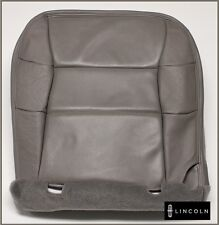 2000 2001 2002 Lincoln Navigator Luxury -Driver Bottom Leather Seat Cover GRAY
