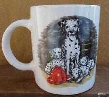 "Fire Fighter Fireman Dalmatian Dog Mug 4"" Unused"